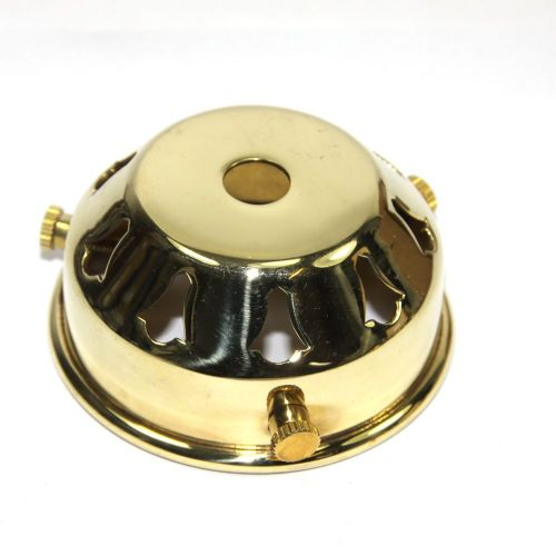 2 1/4'' x 10mm Hole Polished Solid Brass Lampshade Fitter Gallery